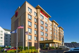 The Sheraton JFk Airport Hotel is located just a half mile from JFK International Airport.