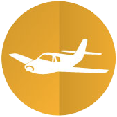 airport and seaport transfer icon